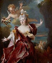 Marie-Anne de Châteauneuf, dite Mlle Duclos, dans le rôle d'Ariane