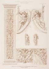 Nicomedes de Mendívil (c. 1861) Detalles escultóricos de la fachada de la Universidad de Alcalá.png