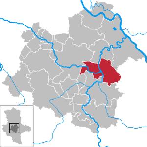 Nienburg, Saxony-Anhalt - Image: Nienburg (Saale) in SLK