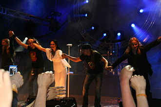 Tarja Turunen - Turunen with Nightwish at the Himos Festival in Jämsä, Finland, on June 25, 2005