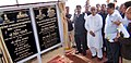 Nitin Gadkari unveiling the plaque to lay the foundation stone for widening of two lane with paved shoulder of Agartala-Udaipur section of NH-44 of 48.20 km length under SARDP-NH, at Amtali.jpg