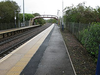 Nitshill railway station Scottish railway station