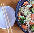 Noodles with chopsticks and bowl.JPG