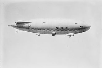 "1926 in Norway - Air ship ""Norge"" flies over the North Pole"
