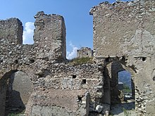 A section of the ruins of Castle Forza d Agro built in the reign of King  Roger I of Sicily 94c88509f3b91