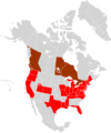North America USL Premier League Map 2011.png