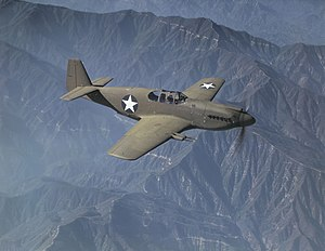 North American Mustang Mk.IA in flight over California (USA), in October 1942 (fsac.1a35324).jpg