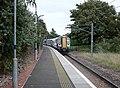 North Berwick railway station, East Lothian, Scotland. Platform looking south towards the town.jpg