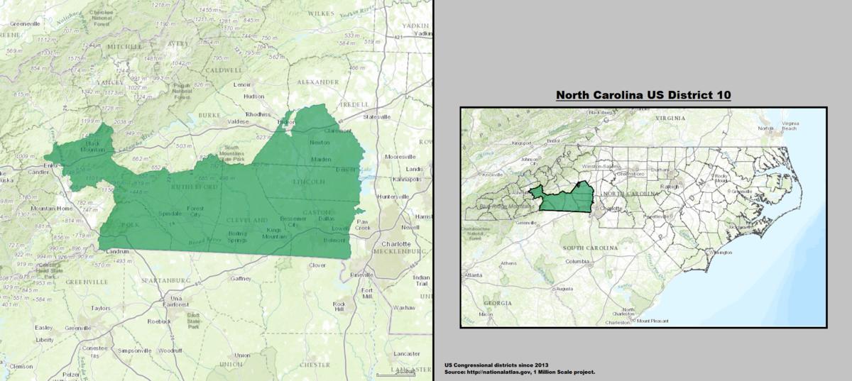 North Carolina S 10th Congressional District Wikipedia