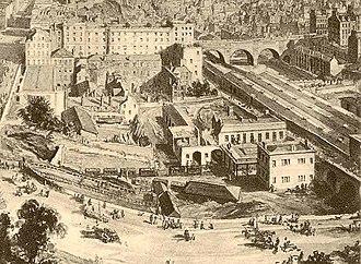 History of the North British Railway (until 1855) - Image: North bridge ebsworth