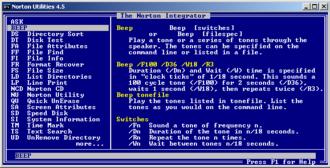 Norton Utilities - Norton Integrator from Norton Utilities 4.5 for DOS