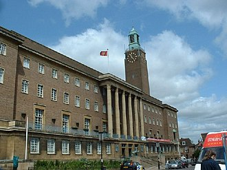 City Hall, Norwich - View of City Hall from St. Peter's Street