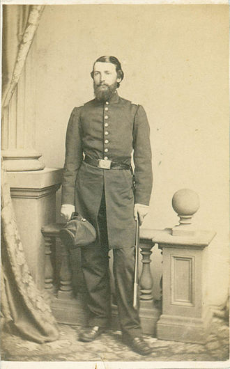 Norwood Penrose Hallowell - Hallowell as a captain in the Union Army, 1862