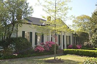 Siege and Battle of Corinth Sites - The Oak Home, Leonidas Polk's midtown Corinth headquarters.