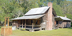 National Register of Historic Places listings in Ware County, Georgia - Image: Obediah Barber homestead house, kitchen, and well, Ware County, GA, US