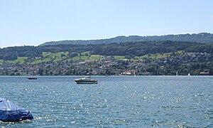 Oberrieden - Oberrieden from across Lake Zurich