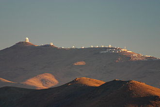 Astronomy in Chile - Picture of La Silla Observatory taken from Las Campanas Observatory