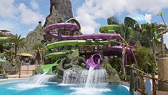 Volcano Bay - Ohyah and Ohno water slides