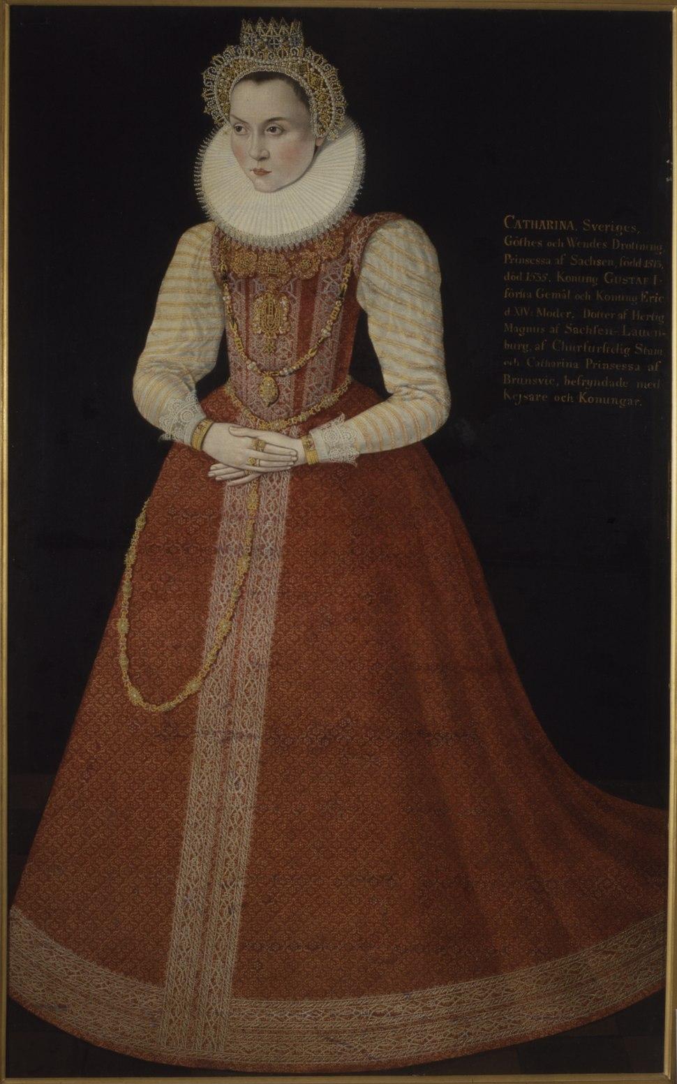 Okänd kvinna kallad Sofia, 1547-1611, prinsessa av Sverige hertiginna av Sachsen-Lau - Nationalmuseum - 15096