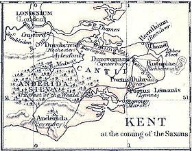 Carte Angleterre Le Kent.Ile De Thanet Wikipedia