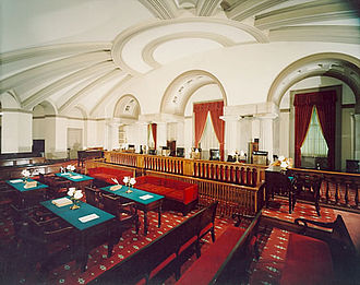Old Supreme Court Chamber - Chamber as viewed from southwest.
