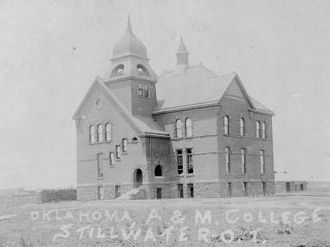 "Payne County, Oklahoma - ""Old Central"", first building constructed for Oklahoma A&M College, ca. 1894"