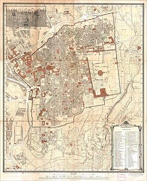 Old City of Jerusalem map by Survey of Palestine map 1-2,500.jpg