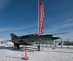 Old Finnish Air Force MiG-21BIS fighter on the roof of Verkkokauppa.com - panoramio.jpg