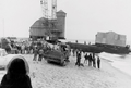 Old Harbor Life-Saving Station moves to Provincetown, 1978.png