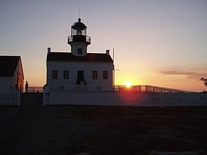 Old Point Loma lighthouse at sunset 03.JPG