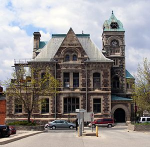 Galt, Ontario - Old Post Office in Galt (Cambridge) built in 1886, renovated in 2016. (2010 photo)