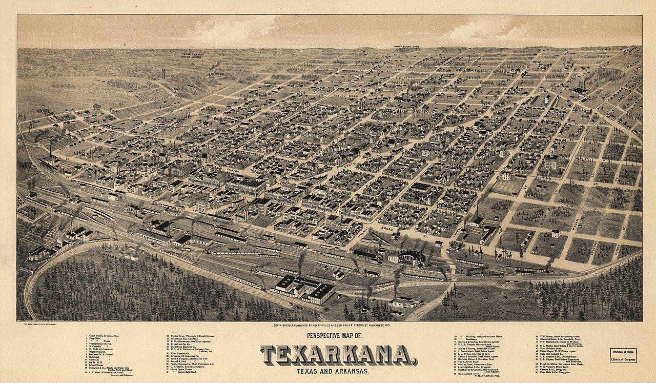 Fileold map texarkana 1888g wikimedia commons fileold map texarkana 1888g publicscrutiny Choice Image
