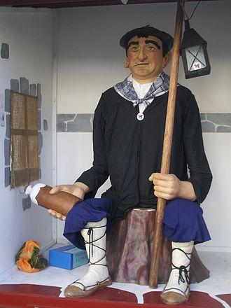 Beret - Olentzero, a Basque Christmas figure, wears a beret