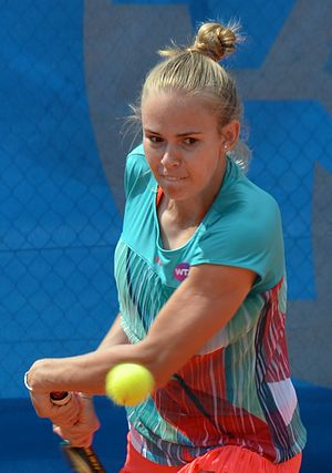 Olga Fridman - Image: Olga Fridman 04 (Qualifikation Nürnberger Versicherungscup 2016)