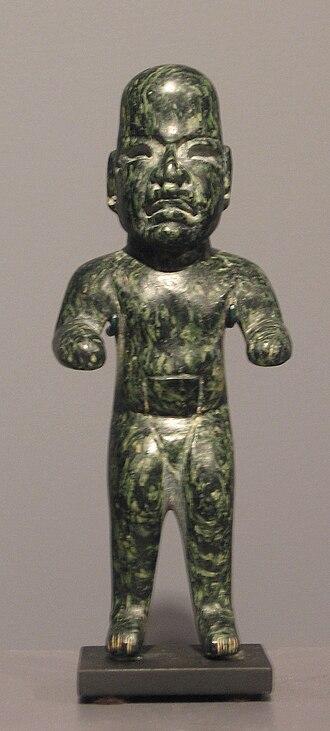 Olmec figurine - Image: Olmec figurine, serpentine