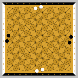 Onyx (game) - Onyx gameboard and starting position