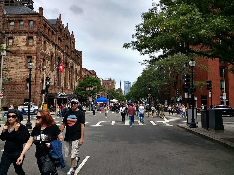 Rua de compras em Boston