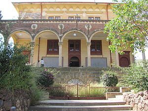 Asmara's Opera - Monumental entrance to Asmara's Opera building