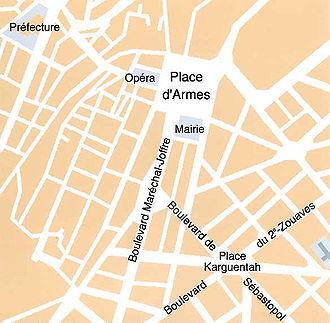 plan très sommaire du centre ville d'Oran