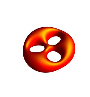Uniformization theorem - Image: Orange Genus 3 Surface