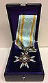 Order of the Sacred Treasure, Third Class, (Japan decoration) - medal inside its box.JPG
