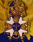 Order of the Sword grand cross badge (Sweden) - Tallinn Museum of Orders.jpg