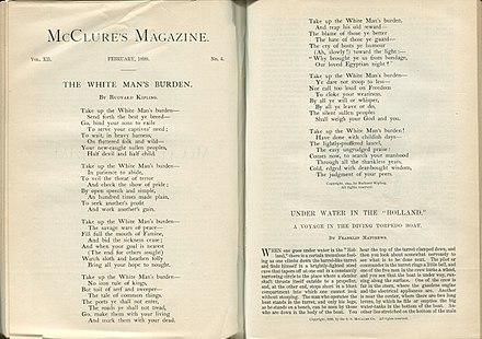 Original publication of The White Man's Burden.