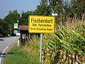 Ortsschild von Fischerdorf, Gemeinde Parkstetten.jpg