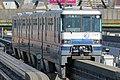 Osaka Monorail 1104 at Minami-Ibaraki Station.jpg