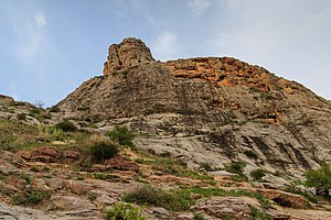 Sulayman Mountain - Rock formations at the top of Sulayman Mountain
