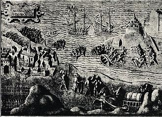 Paus family - Oslo in the late 16th century; the city to the left
