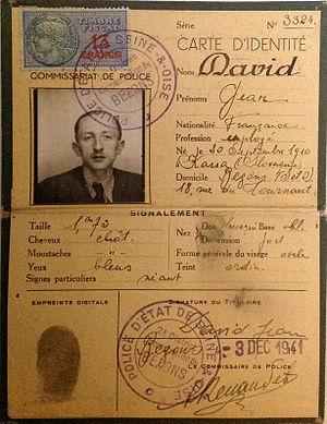 Otakar Hromádko - Hromadko's false ID during World War II in France