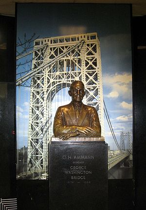 Othmar Ammann - Bust in George Washington Bridge bus station