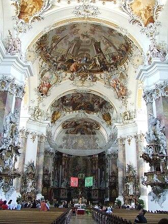 Ottobeuren Abbey - Rococo interior of the basilica